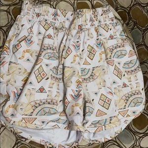 Pants - Tribal print shorts